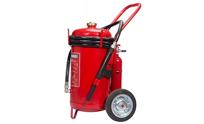 Dry Powder Fire Extinguisher on Trolley